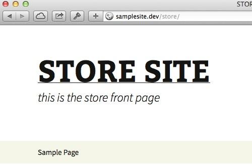 Original Store URL