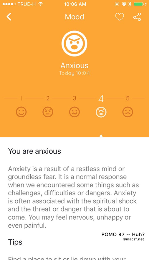 Definitely NOT anxious